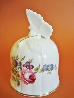 Beautiful vintage Royal Worcester bone china bell with butterfly.