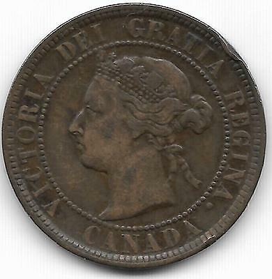 Canada 1884 Large Cent Coin - Vfxf - Bv$8