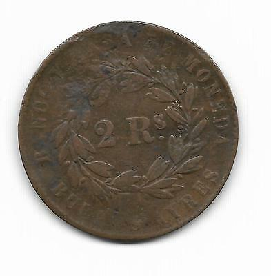 Argentina 1861 2 Reales  Coin - Very Scarce