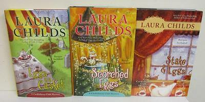 Lot of 3 Laura Childs Cackleberry Club Mysteries (Hardcover Books)