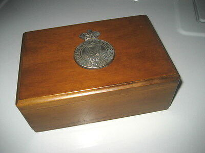 Vintage Jewelry Box British Army Connaught Rangers