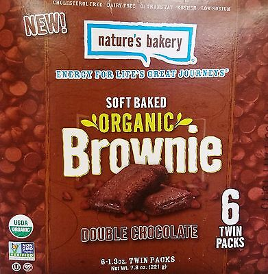 1 Nature's Bakery Soft Baked Organic DOUBLE CHOCOLATE Brownie Snack Bar 7.8 oz
