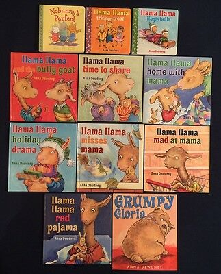 Lot of 11 Children's Picture Books by Anna Dewdney: Llama Llama Series & More