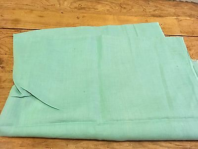 Moprimitivepast Antique Feedsack Quilting Vintage Green Large Open Quilts Fabric
