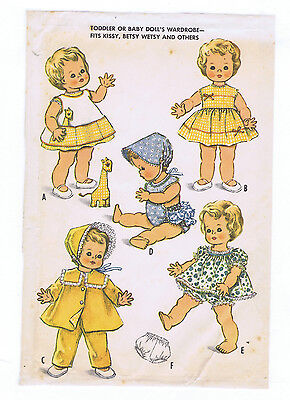 "2468 Vintage Chubby Baby Doll Pattern - Size 22-23"" --Year 1961"