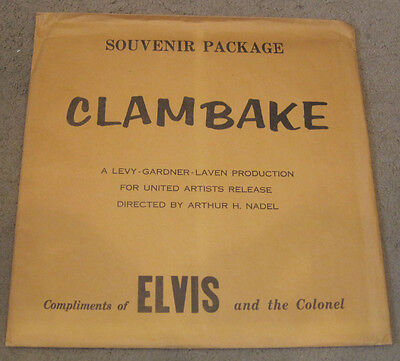 Elvis Presley Souvenir Package Clambake Compliments Elvis And The Colonel