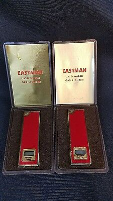 Eastman Vintage Cigarette Lighter Watch With Box lot of 2