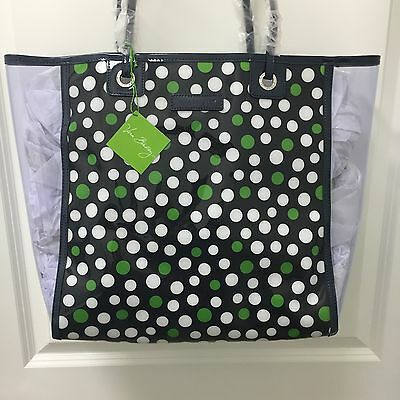 Vera Bradley Clearly Colorful Beach Tote Bag in Lucky Dots