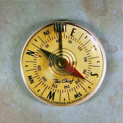 "Vintage Compass Chief Fridge Magnet 2 1/4""  Steampunk 1960's Gauge Dieselpunk"