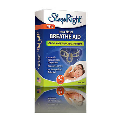 * Sleepright Intra-Nasal Breathe Aid 45 Day Supply Boost Airflow Reduce Snoring