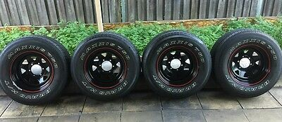 "Toyota Hilux wheels and tyres 16"" sunrazor 4x4 set of 4"
