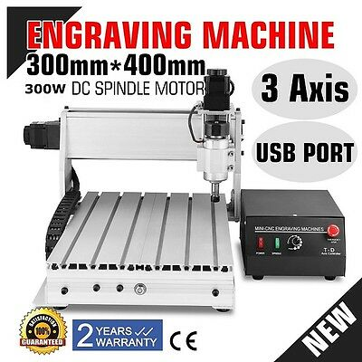 TOP 3 AXIS CNC Router Engraver 3D Engraving Drilling Milling Machine 300W 3040