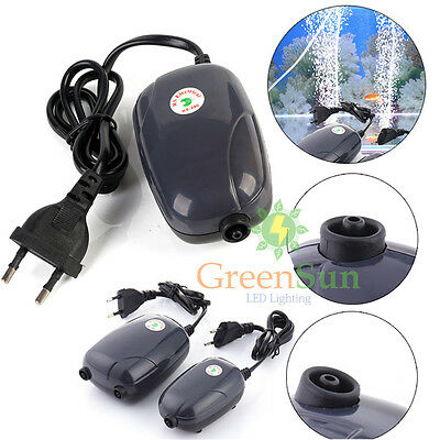 Super Silent  Aire Acuario Pump Bomba Aquarium Oxygen Hot Air Pump 3W/5W