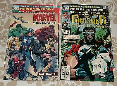 Worlds Unknown  #7,8 1974 with Punisher and Marvel Universe, lot of 4 comics