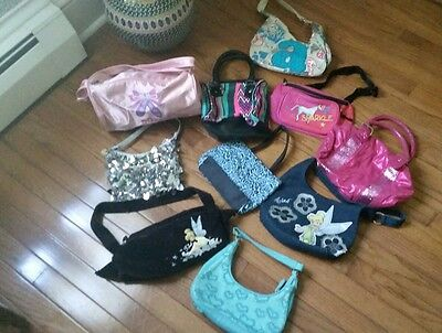 Girls Lot 10 Handbags Dance Bag Justice Disney Liz Claiborne