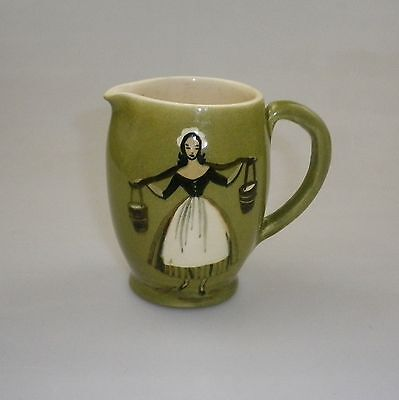Martin Boyd Handpainted Jug Depicting A Lady Carrying Water