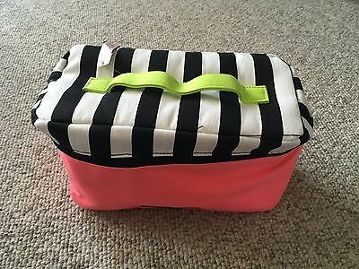 NWT Victoria's Secret Bra And Panty Carrying Case Pink/Black/White $70