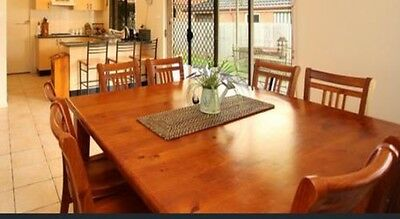 8 x Seater Square Timber Table