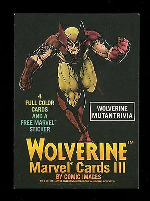 1988 Marvel X-Men Wolverine Promo Card - Flat Shipping Rate