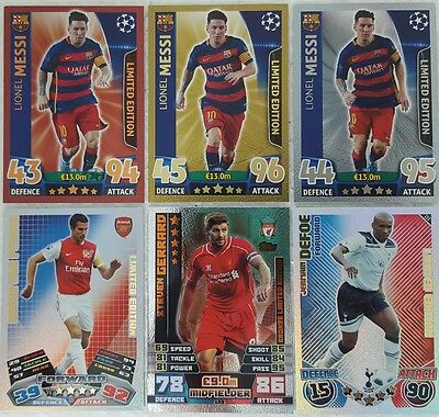 Topps MATCH ATTAX UEFA / EPL LIMITED EDITION Card SINGLES 2010 - 2017 LE Gold ..