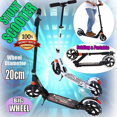 CHIC Adult City Suspension Push Kick Scooter Folding Portable Large 200mm Wheels