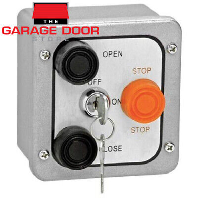 3Bxl Open/close/stop Exterior Control Station W/ Lockout (Metal)