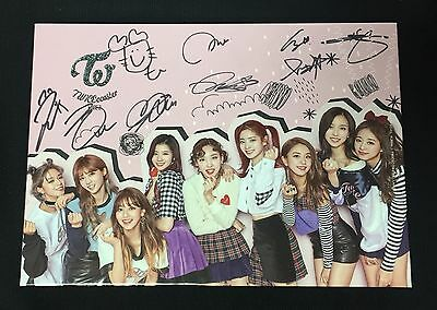 "TWICE autographed ""TWICEcoaster: Lane 2"" Album signed PROMO CD (RARE ver.)"