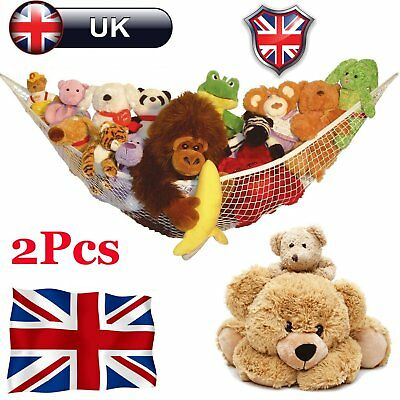 1 2 Pcs Large Toy Teddy Hammock Mesh Baby Child Bedroom Tidy Storage Nursery Net
