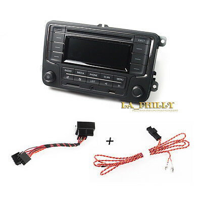 Set New RCN210 Radio USB AUX SD Bluetooth Cable For VW GOLF CADDY POLO PASSAT