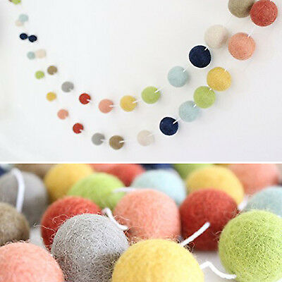 MAGIC SHOW Handmade DIY Crafting Felt Ball Muticolor Garland For Home & Kitchen