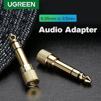 UGREEN 6.35mm 1/4 inch Male to 3.5mm 1/8 inch Female Stereo Audio Adapter 1PC
