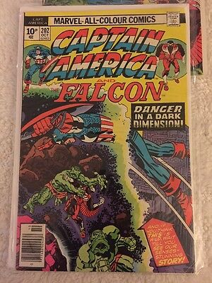 Captain America and the Falcon #202 & 203 Marvel Comics 1977 Pence Copies.