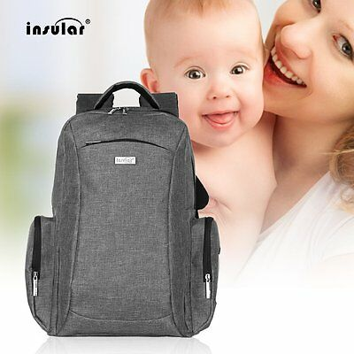 INSULAR Multifunctional Double Shoulder Bag Mummy Bag Nylon Baby Diaper Bag  LN