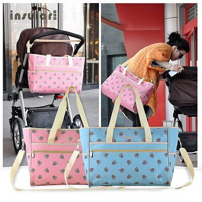 Insular Nappy Baby Bags Paws Printed Mummy Bag Waterproof Large Capacity LN