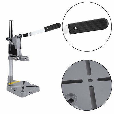 Clamp Power Drill Press Stand & Bench Pillar Pedestal for Drilling Collet TE