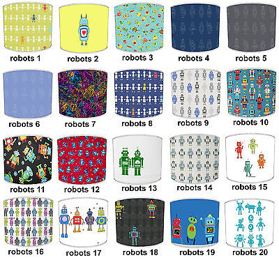 Lampshades Ideal To Match Robots Wallpaper Borders & Robots Cushions Covers.