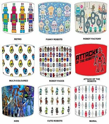 Lampshades Ideal To Match Robot Wallpaper Borders & Robots Quilts & Bedspreads.