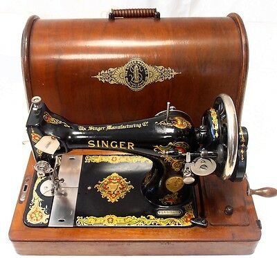 Antigua maquina de coser SINGER 128-4  año 1920 rare sewing machine collectors ►