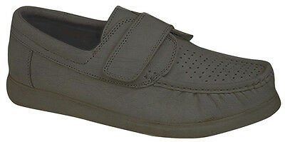 Men's DEK Bowling Shoes - Velcro Fastening  (Grey) Comfortable , Sports