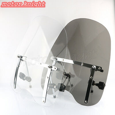 "7/8""&1"" universal windshield motorcycle For Harley Davidson Honda Suzuki Yamaha"