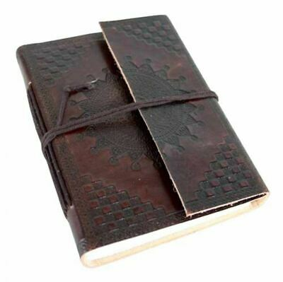 Leather Notebook With Star Design - High Quality Leather Journal & Diary