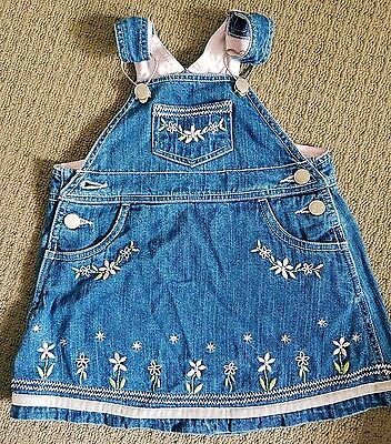 Baby Girl Clothes Preloved Pumpkin Patch Overalls Size 00 to 0 Denim Pink lot