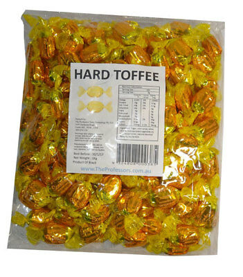 Sweet Treats Wrapped Hard Toffees - Yellow/Gold - Caramel Vanilla (1kg)