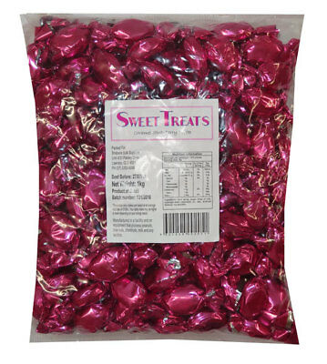 Sweet Treats Wrapped Hard Toffees - Pink - Strawberry (1kg)