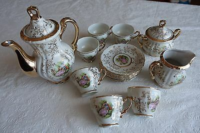 Vintage 'Rosy China' Tea Set - 15 Piece Fine Bone China