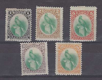 Guatemala Stamps 1881 Sg 21-25 Heavily Mounted Mint See Scans