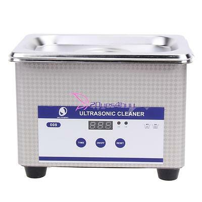 Digital Ultrasonic Cleaner Ultra Sonic Tank Timer Jewellery Watch Cleaning New