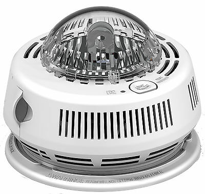 BRK Smoke Alarm, 120V Photoelectric w/Strobe & Battery Backup 7010BSLA