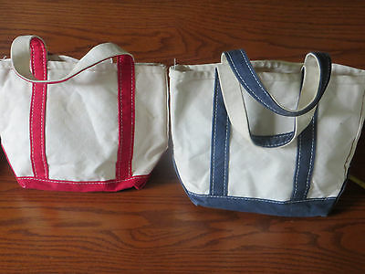 L.L. Bean boat and tote, 2 small bags!  Red and Blue.