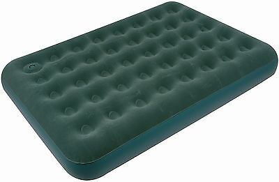 Royal Double Flock Airbed with Pump – Green – 400171